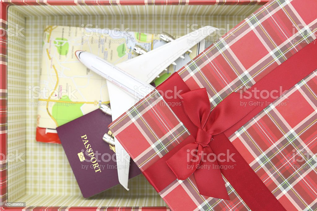 Traveling as gift stock photo