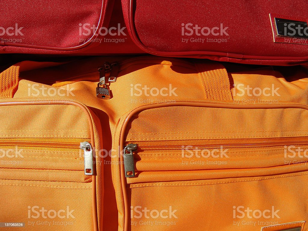 traveling bags royalty-free stock photo