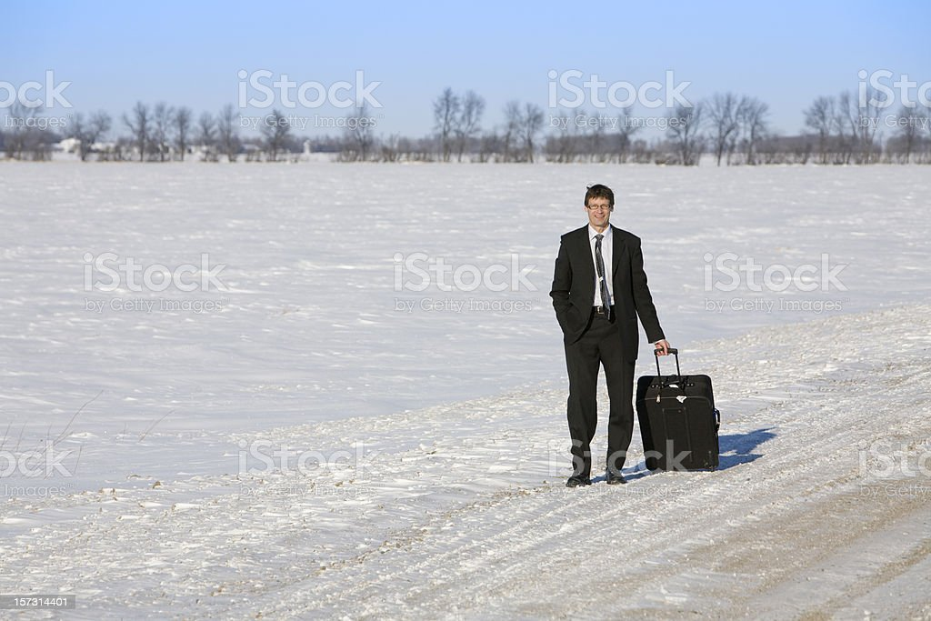 Traveling businessman royalty-free stock photo