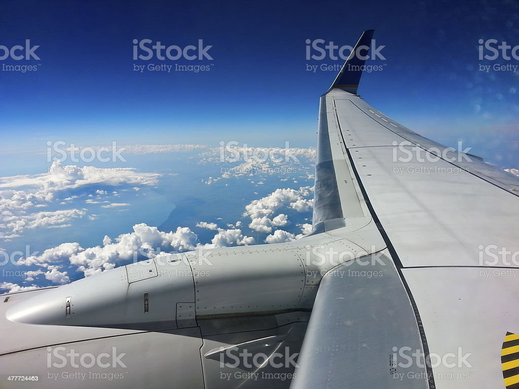 Traveling by air royalty-free stock photo