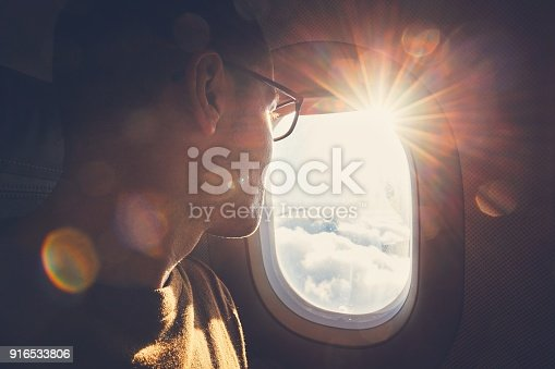 istock Traveling by airplane 916533806