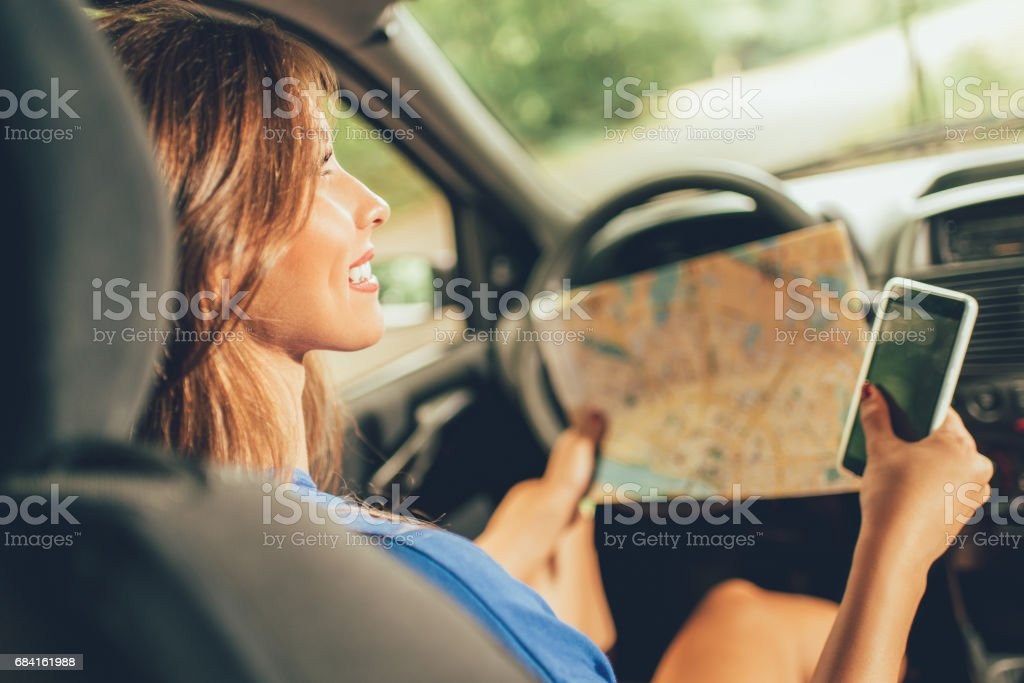 Traveling By Car royalty-free stock photo