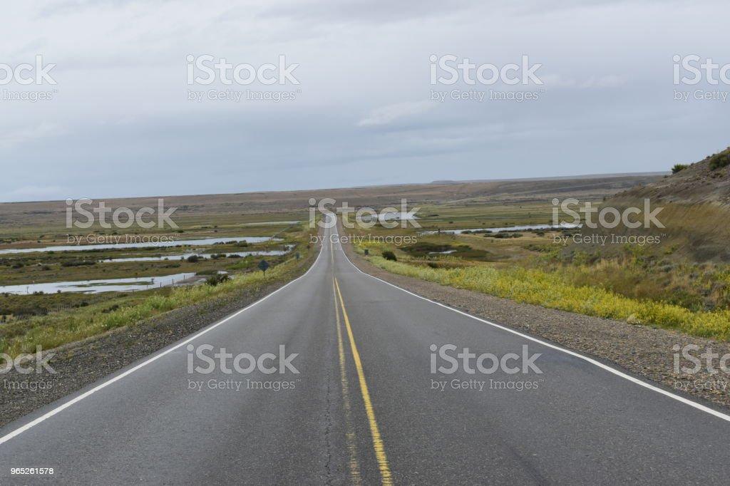 Traveling by patagonian routes zbiór zdjęć royalty-free