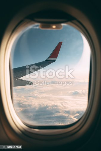 155439315 istock photo Traveling by plane 1213534703
