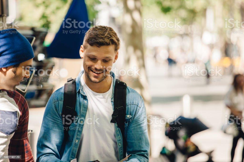 traveling couple stock photo