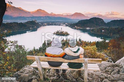 629376126istockphoto Traveling family looking on Bled Lake, Slovenia, Europe 623482698
