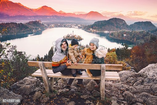 629376126istockphoto Traveling family looking on Bled Lake, Slovenia, Europe 624593146