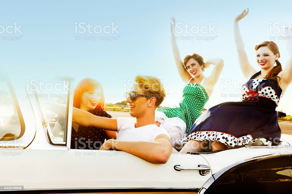Traveling Friends stock photo