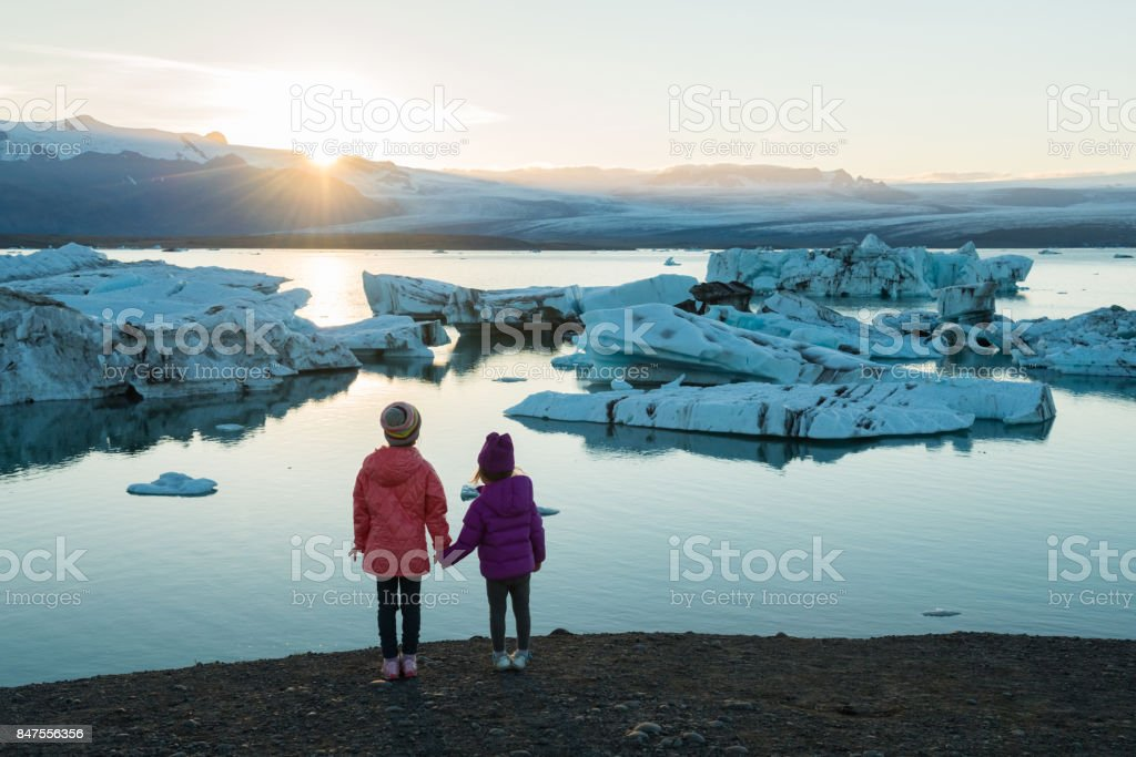 Traveling Iceland with kids stock photo