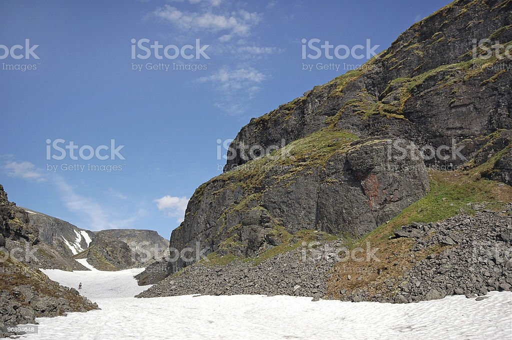 Traveling in high mountains royalty-free stock photo