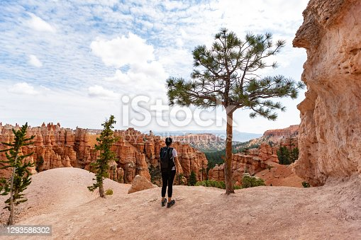 istock Traveling in USA Southwest: At Bryce Canyon National Park, Peek-a-boo trail 1293586302