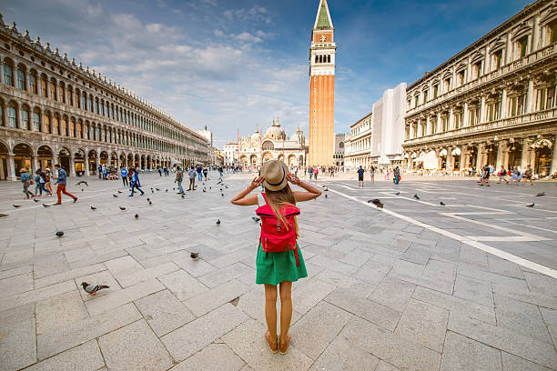 Traveling in Venice stock photo