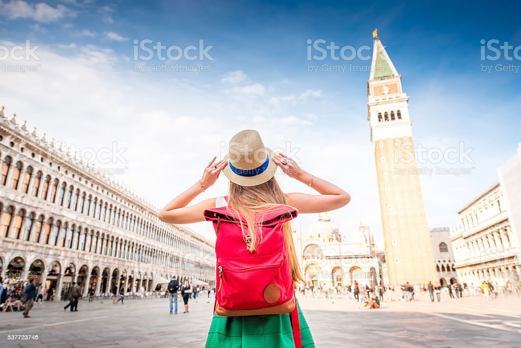 Traveling in Venice stock photo