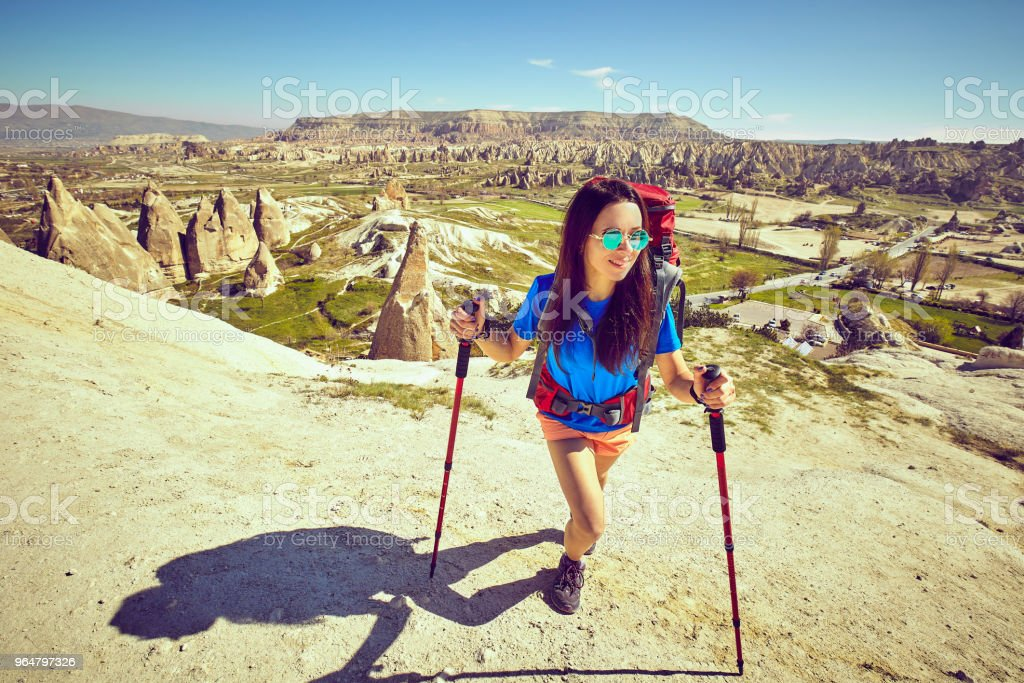 Traveling is a tourist route with a backpack. royalty-free stock photo