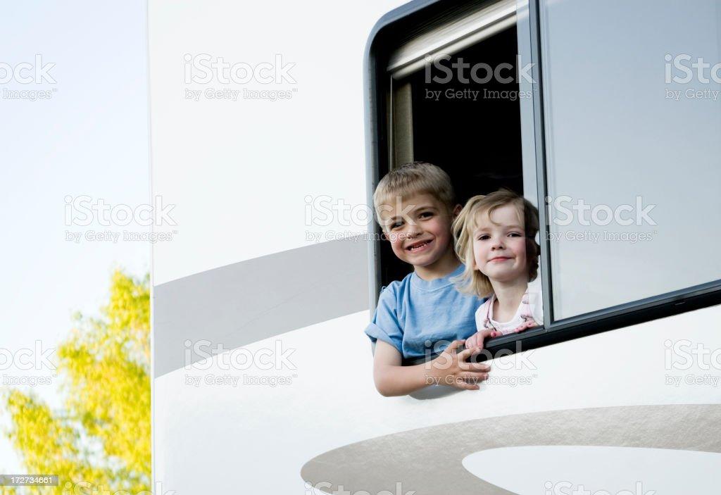 Traveling Kids royalty-free stock photo