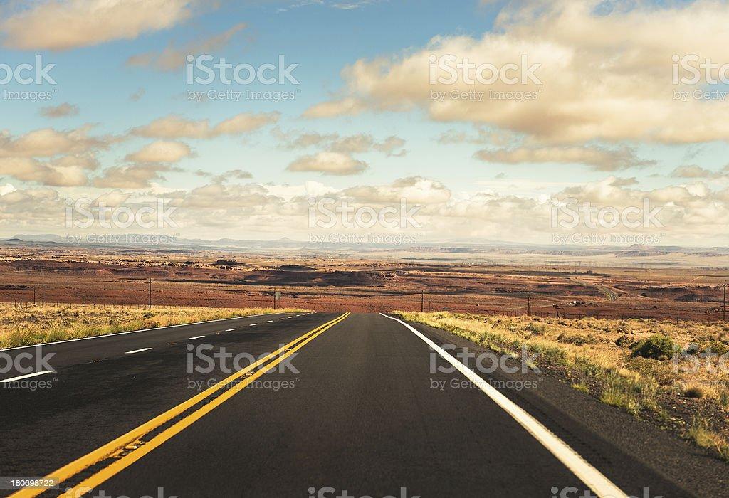 traveling on the arizona desert royalty-free stock photo
