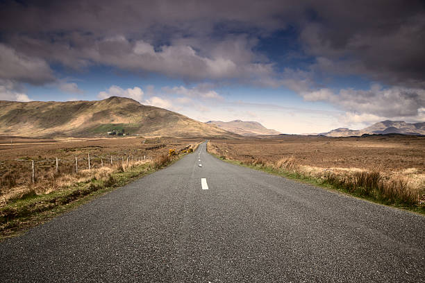 traveling on the ring of kerry stock photo