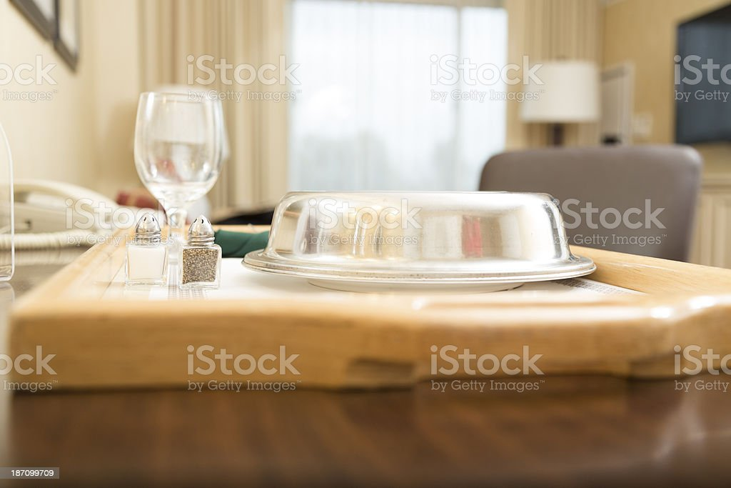 Traveling:  Room service delivered in a hotel suite. royalty-free stock photo