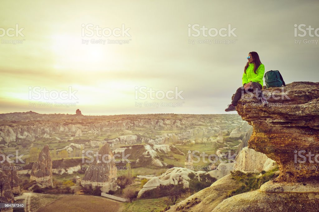 Traveling solo adventure Lifestyle active vacations royalty-free stock photo