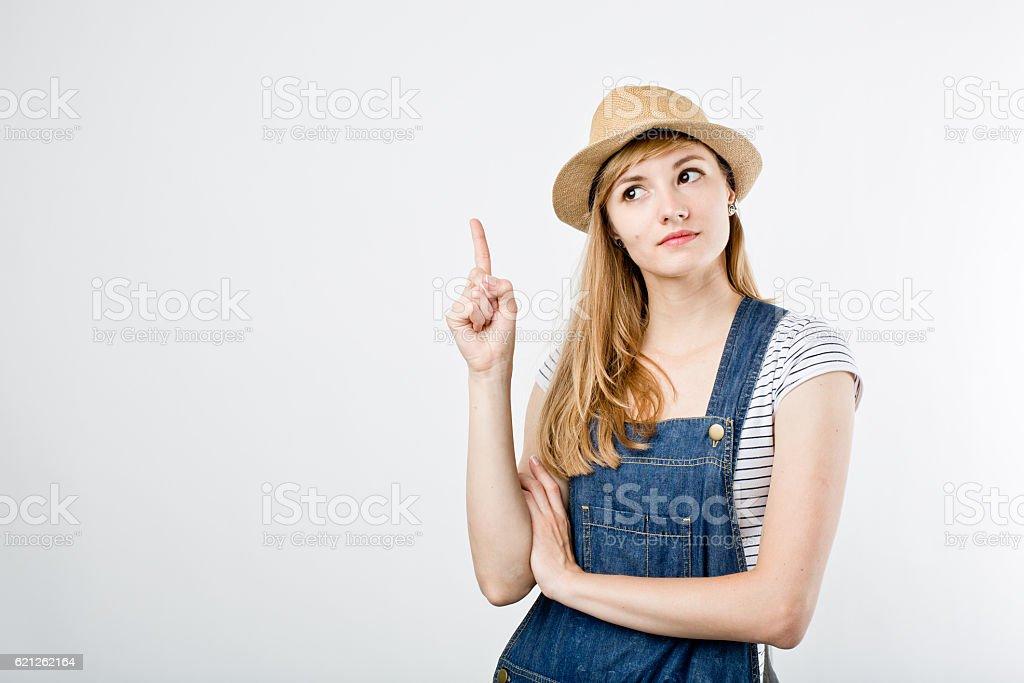 Traveling style girl stock photo