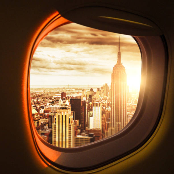 traveling to new york stock photo