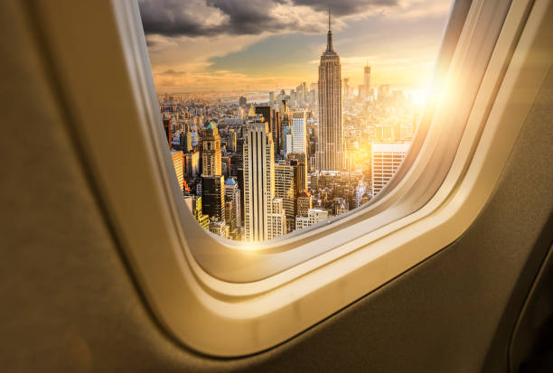 Traveling to New York stock photo