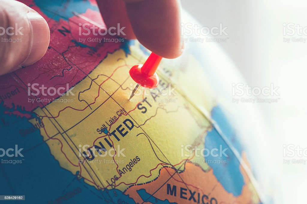 Traveling to United States stock photo