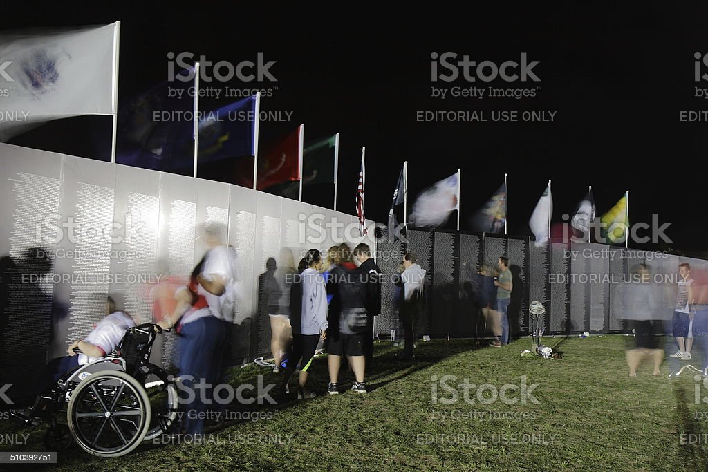 AVTT Traveling Vietnam Memorial Wall in Fort Collins, Colorado USA royalty-free stock photo