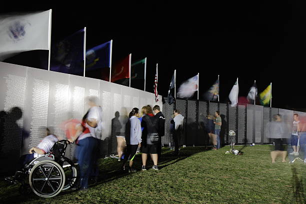 AVTT Traveling Vietnam Memorial Wall in Fort Collins, Colorado USA stock photo