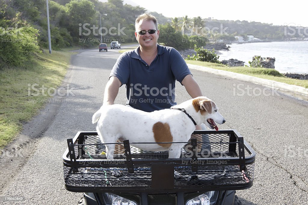 traveling with dog royalty-free stock photo