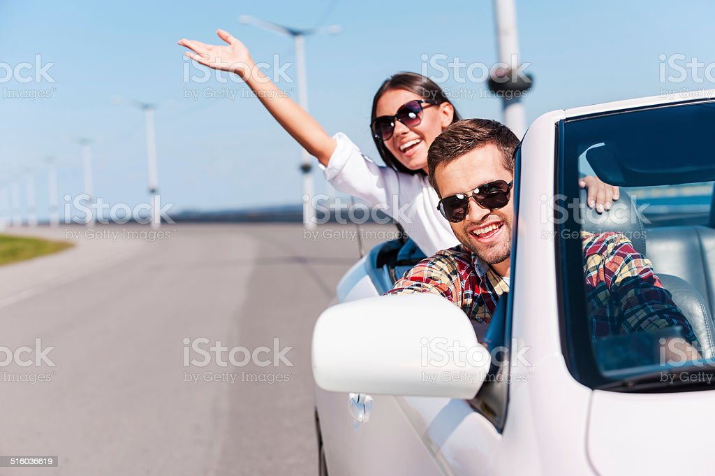 Traveling with fun. stock photo