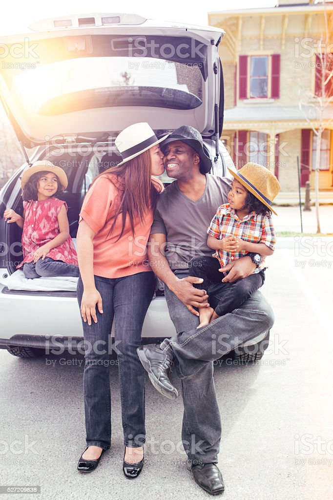 Traveling with kids stock photo