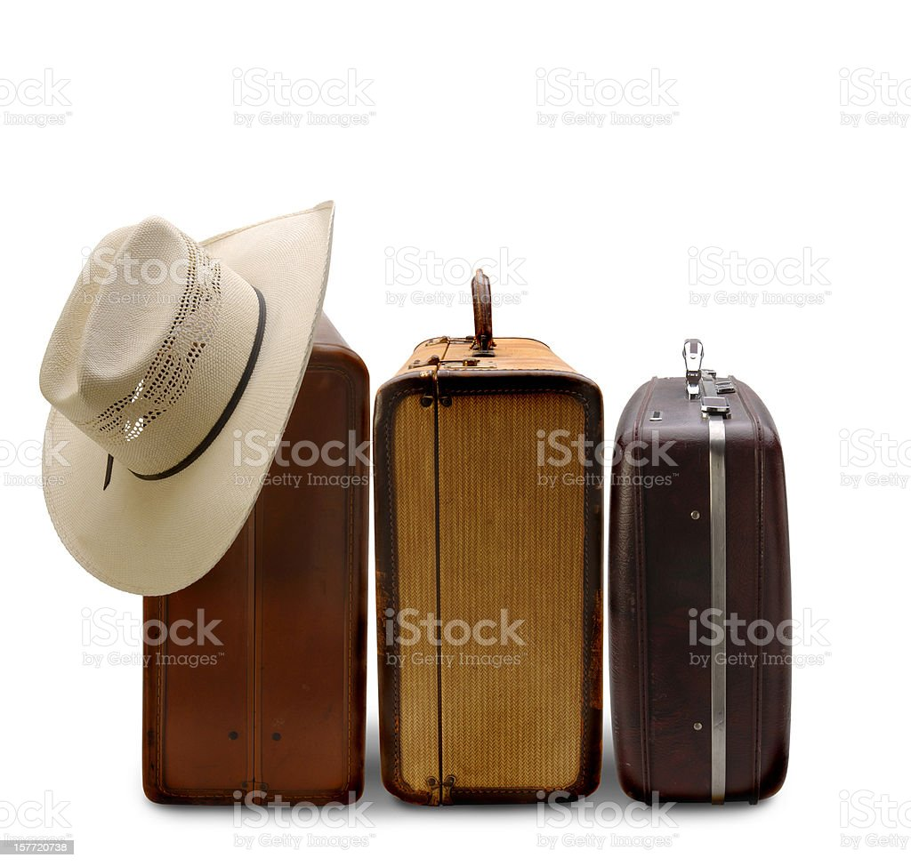 Traveling with Luggage royalty-free stock photo