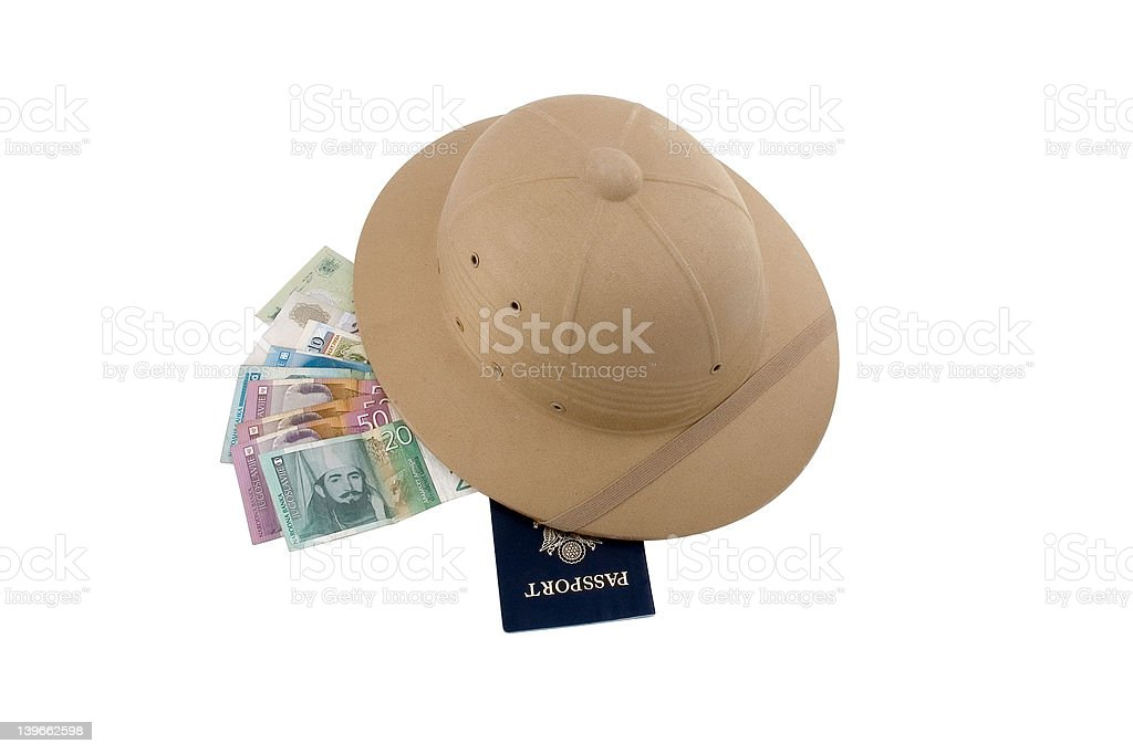 traveller essentials royalty-free stock photo