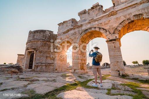 UNESCO, Photographer, Camera, Travertine pools, Greek architecture