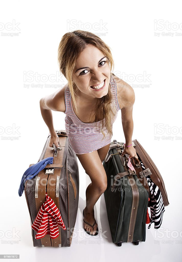 Traveller woman royalty-free stock photo