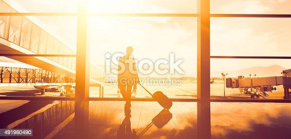 istock traveller woman waiting 491960490