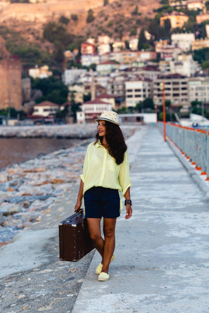 Traveller woman with vintage suitcase picture id850759698?b=1&k=6&m=850759698&s=612x612&w=0&h=cd2ay4cggvhosh3be0a8huj8odfjyycemvitmlp24nm=