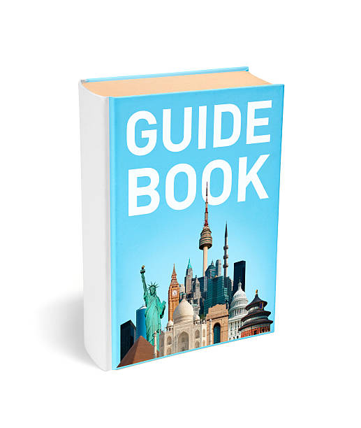 Traveller's guide book stock photo