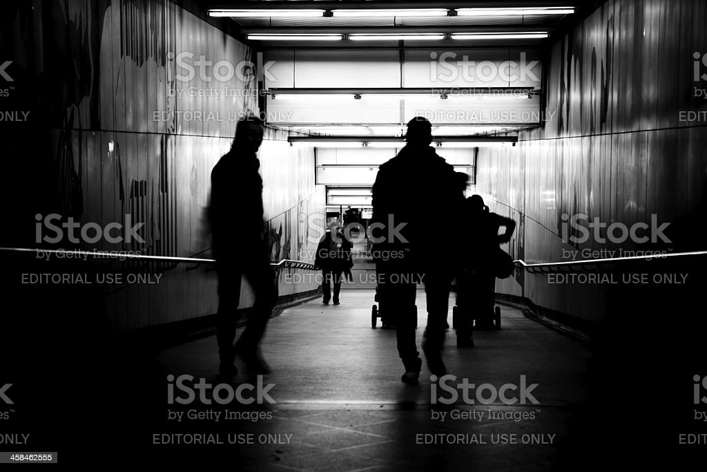 Traveller's in silhouette stock photo