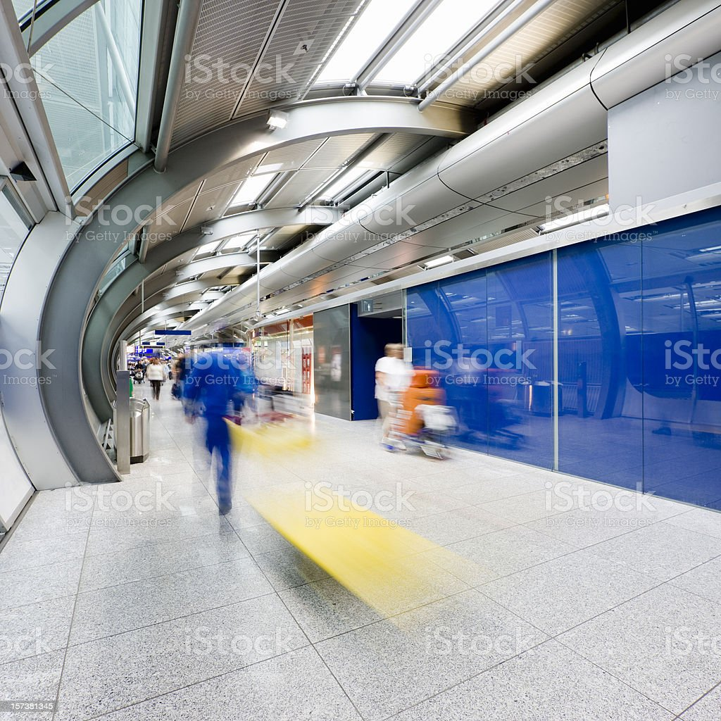 Travellers in the Airport royalty-free stock photo