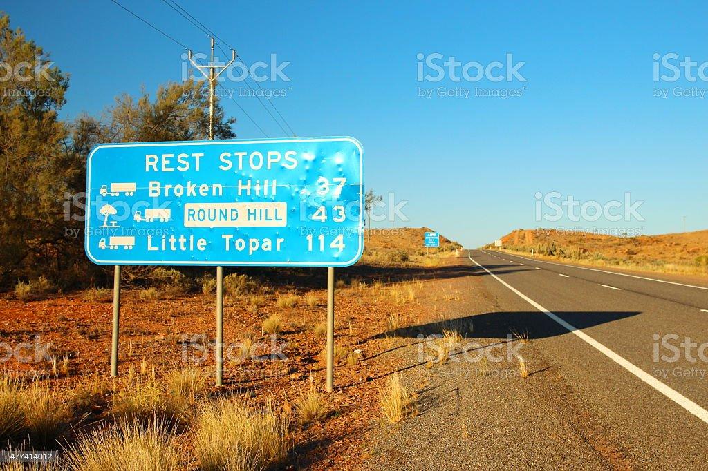 Travelling across Australia stock photo
