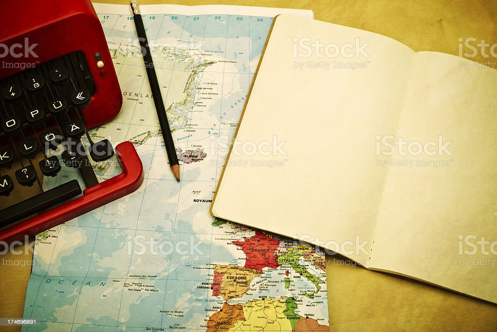 Travelling and writting XXXL royalty-free stock photo