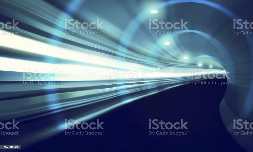Travelling at the speed of light stock photo