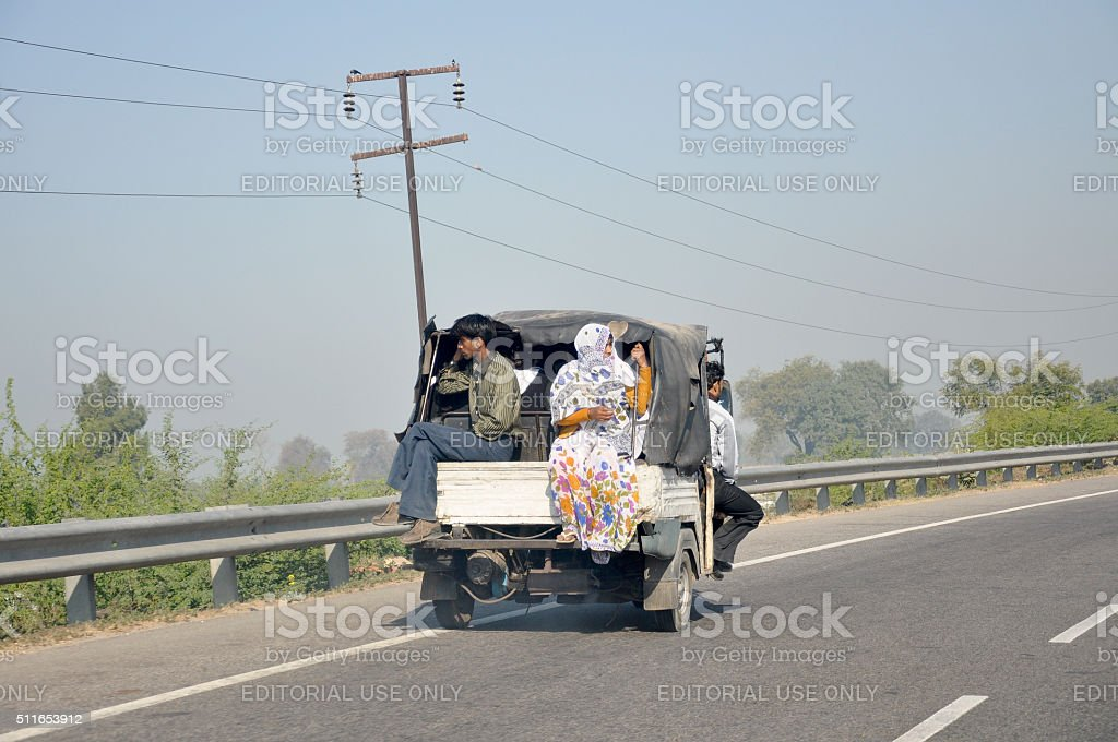 Travelling by road in India stock photo