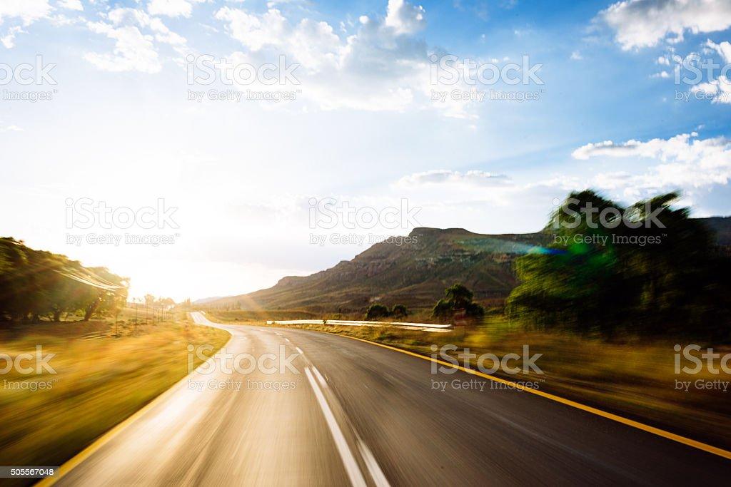 Travelling By Road bildbanksfoto