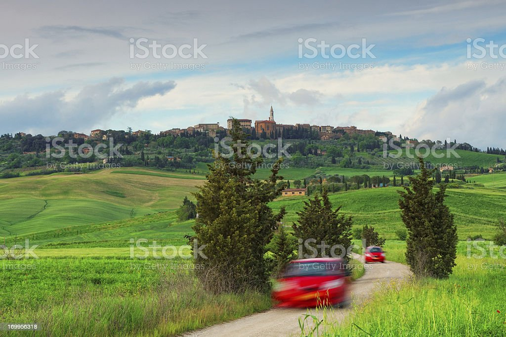 travelling in Tuscany stock photo