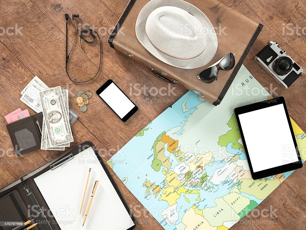 Travelling mockup business template. stock photo