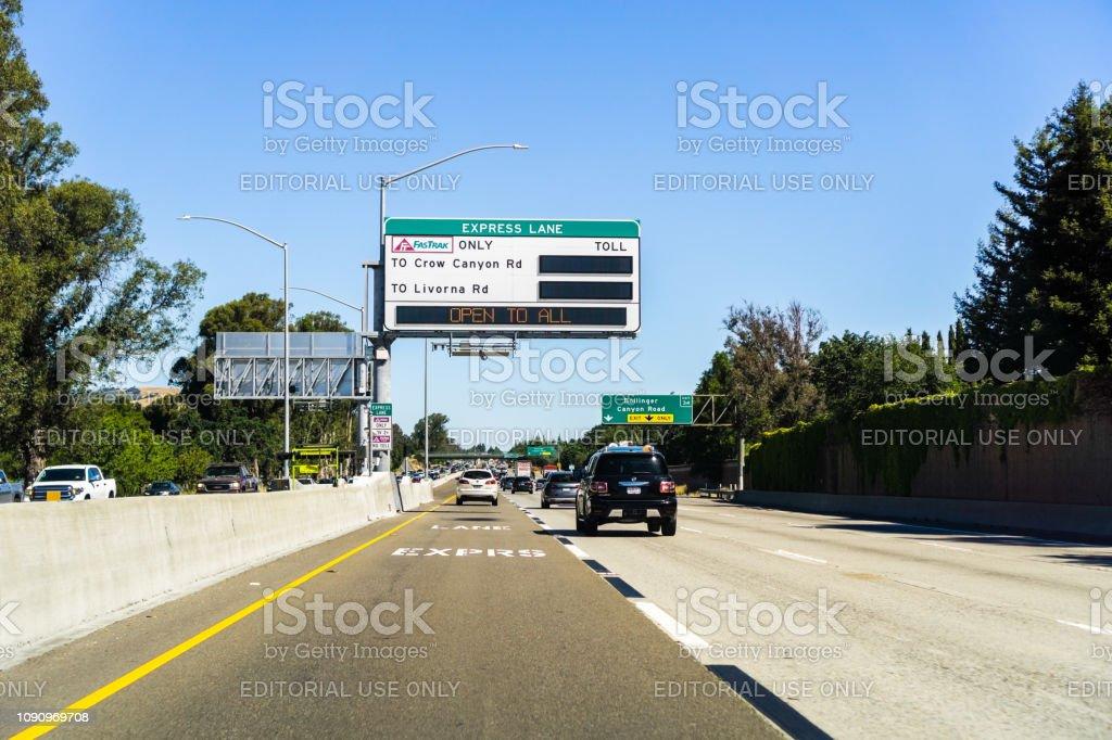 Express Lane California >> Travelling On The Express Lane Stock Photo Download Image