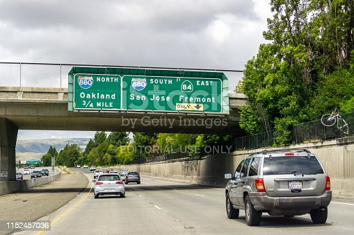 istock Travelling on the freeway towards Oakland, California 1152457036